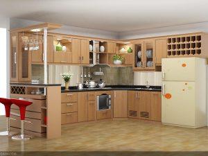 Tủ bếp gỗ giá rẻ 04T