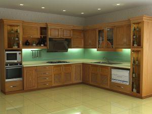 Tủ bếp gỗ giá rẻ 06T