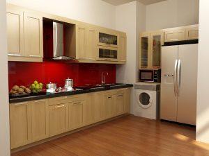 Tủ bếp gỗ giá rẻ 07T