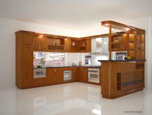 Tủ bếp gỗ giá rẻ 02T