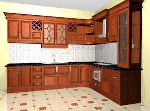 Tủ bếp gỗ giá rẻ 03T