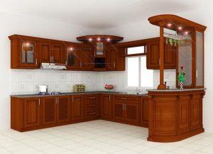 Tủ bếp gỗ giá rẻ 05T