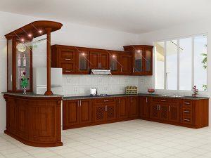 Tủ bếp gỗ giá rẻ 15T