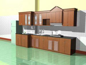Tủ bếp gỗ giá rẻ 08T