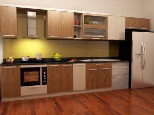 Tủ bếp gỗ giá rẻ 10T